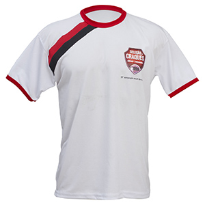 camisetas-promocionais - Camiseta gola careca com malha cardada personalizada.