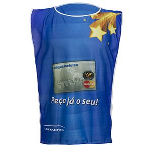 camisetas-promocionais - Colete com malha dryfit e estampa com sublimação total.