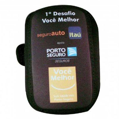 Brinde & Leve - Braçadeira para celular personalizada em neoprene