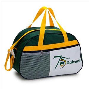 Bolsa de viagem personalizada em poliéster nylon com bolso de telinha