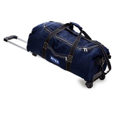 Bolsa de viagem com carrinho em nylon amassado