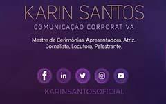 Karin Santos - apresentadora