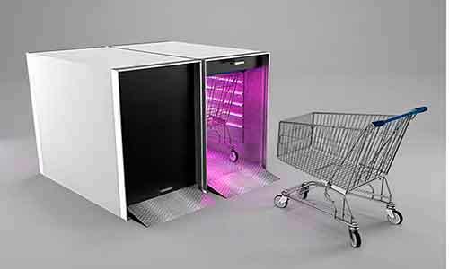 Cabine de Descontaminação de Carrinhos - Modern Marketing