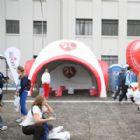 Tendas + Infláveis Orvalho do Sol - Stande - Geodesica 5x5 com avanço