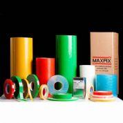 Maxfix Fitas - Fita adesiva. Surpreenda seu público de maneira criativa! Dados técnicos Espessura: 1,0mm Larguras: Qualquer largura abaixo de 750mm Comprimento: 20,...