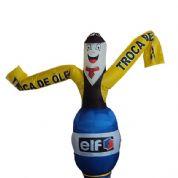 Boneco inflável com logotipo e formato personalizado. Sua marca sempre em destaque!