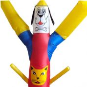 Boneco inflável personalizado.