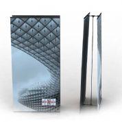Linha Porta Banner Flex : reto, curvo, articulado ou duplo; Fabricação Nacional: Troca do banner f...