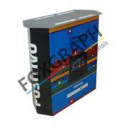 Material para PDV - Balcão degustação produzido em impressão offset e substrato cartonado. Qualidade Foxgraph.