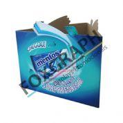 Material para PDV - Topo de Ilha produzido em impressão off set e substrato cartonado. Qualidade Foxgraph.