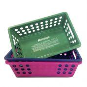 Cesta de farmácia personalizada injetada em PVC com diversas cores, lisa ou vazada