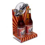 Acril Designer - Display de mesa para expor garrafas Itubaína Retrô, feito em acrílico cristal, com impressão digital, corte a laser e dobra. Desenvolva o seu projeto...
