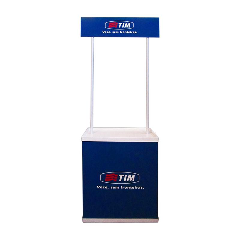 Balcão Promocional Transporte fácil, acondicionado em uma exclusiva bolsa em TNT reforçado. Peças independent...