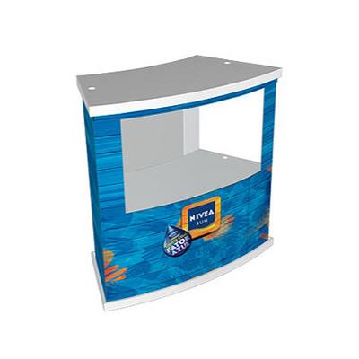 Balcão Modelo Light maxi com vitrine P.S (poliestireno) com bandejas Superiores , Intermediaria e Inferior em PSAI (Poliestireno alto impacto) e o cor...