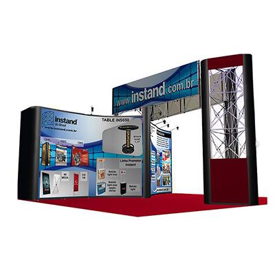 Projetos especiais para estandes construídos com equipamentos instand Adequação a formatos