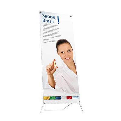 Suporte para banner modelo WI Master, confeccionado em fibras de vidro,medindo 0,80 X 2,05.Acompanha bolsa para transporte