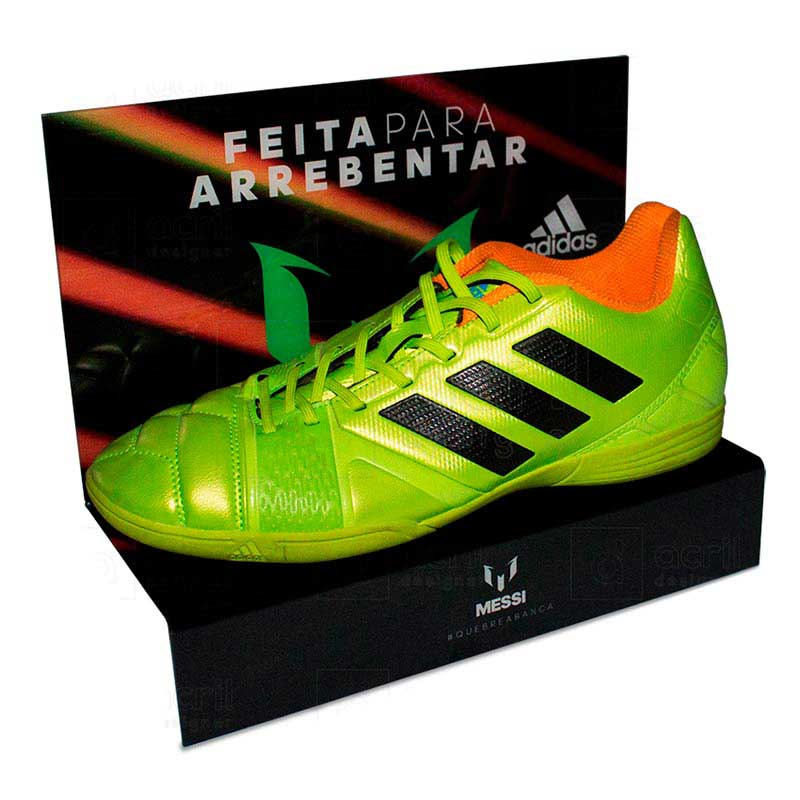 Shoe Shelf personalizado para Adidas, feito em PETG, com impressão digital e dobra. Desenvolva o se...