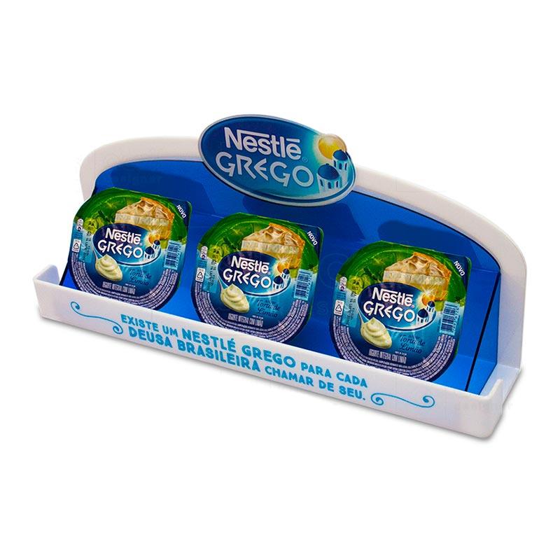 Display para PDV em acrílico, desenvolvido exclusivamente para campanha Nestle Grego, com Impressã...