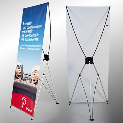Banner em fibra de vidro e plástico ABS. Acompanha bolsa em nylon