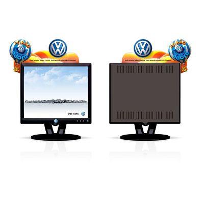 Displays de computador.