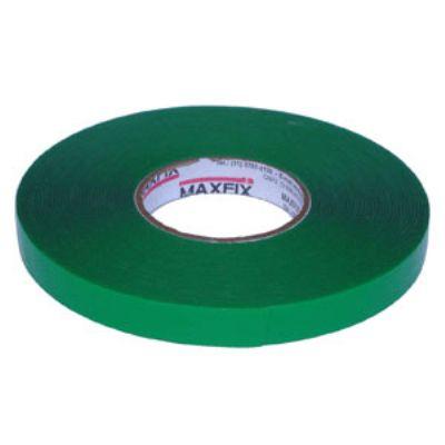Fita adesiva dupla face de massa acrílica transparente, liner verde, espessura 1,0mm, 20 a 60 metros...