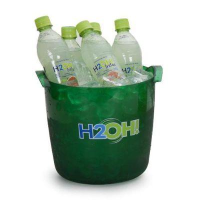 Balde para bebidas e gelo em PET 100% Reciclado - Produto único no mercado com capacidade para 6 lon...