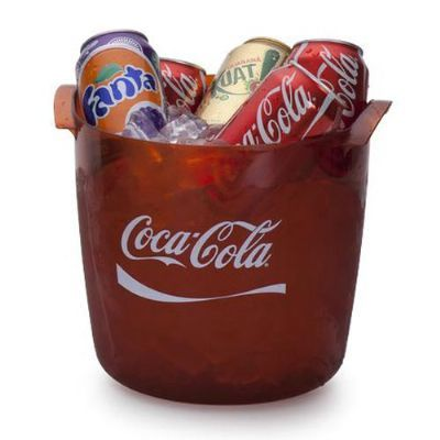 Balde para gelo e bebidas transparente – capacidade para 6 long neck, 12 latas, 03 garrafas de 600ml ou garrafas de champagne