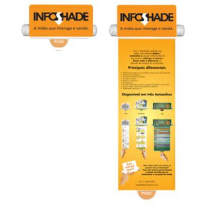 Display Infoshade para divulgação.