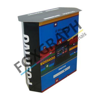 Material para PDV - Balcão degustação produzido em impressão offset e substrato cartonado. Qualidade...