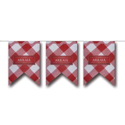 Bandeirola de papel personalizada