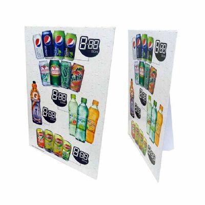 Display balcão com suporte americano e peça promocional utilizado em balcões de lojas, farmácias, ma...