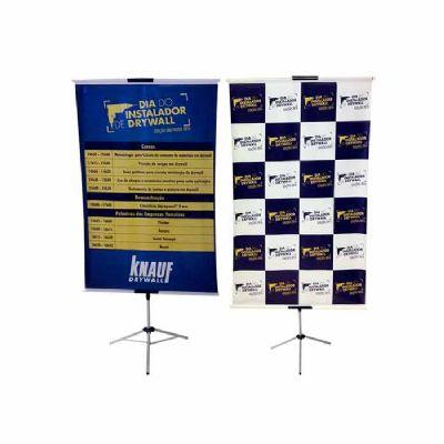 Banner com Pedestal são produzidos em lona e são utilizados para divulgações de produtos ou promoçõe...