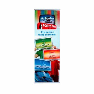 Banners são produzidos em lona e são utilizados para divulgações de produtos ou promoções no PDV em...