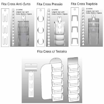 Fita cross - clip strip