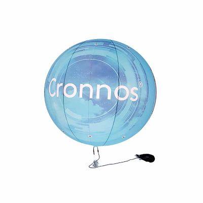 Balão Blimp com iluminação interna.