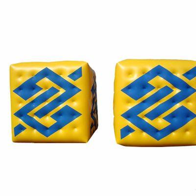 Balão Blimp cubo impresso duas faces