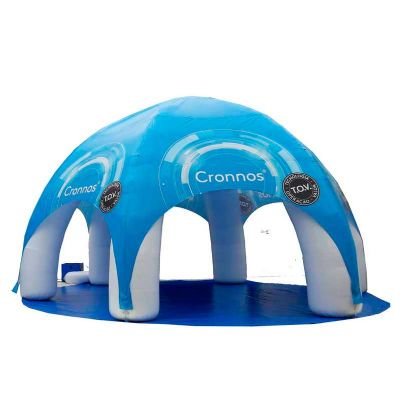 Tenda semiesférica inflável com impressão total
