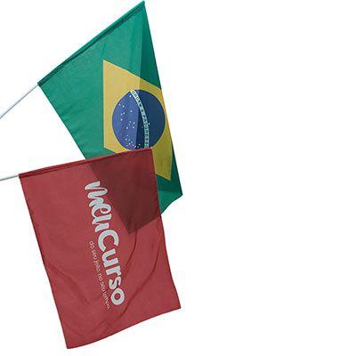Bandeira em tecido nylon med 1 x 1,40 mts com impressão digital de alta qualidade a cores.