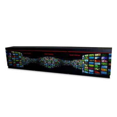 Rack PDV para televisão Semp Toshiba, feito em MDF e PETG, com impressão digital e colagem especial....