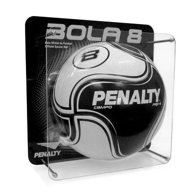 Display expositor desenvolvido para Penalty, feito em acrílico cristal e preto, com impressão digita...