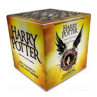 Cubo luminoso 20cmx20cm, personalizado para Editora Rocco, com Arte Harry Potter, feito em acrílico...