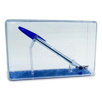 Display expositor personalizado para Caneta BIC, feito em acrílico cristal e com impressão digital...