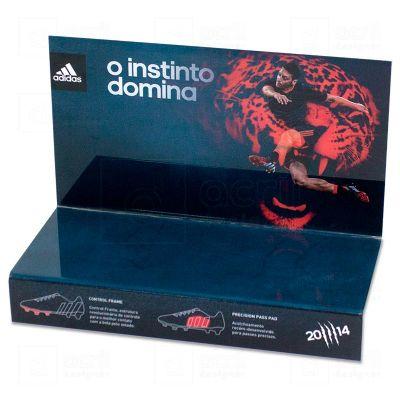 Display expositor para tênis, feito em acrílico cristal, com impressão digital, e dobra. Desenvol...