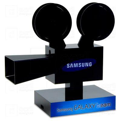 Display personalizado exclusivamente para a Samsung, feito em acrílico, com impressão digital, corte...