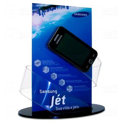 Display para Smartphone personalizado para a Samsung, feito em acrílico, com impressão digital, cort...