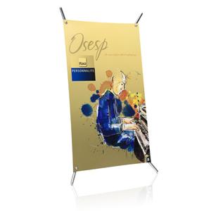 Banner personalizado. Medida: 27 x 42 cm. Material: Plástico ABS. Evidencie seus anúncios com divulgação criat...