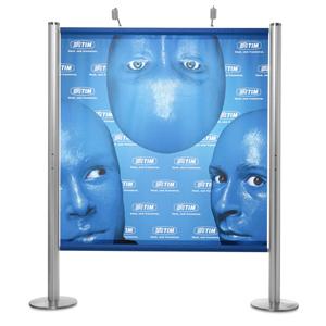 Display diferenciado e muito versátil, podendo ser configurado em muitas medidas e com impressão em lona ou te...