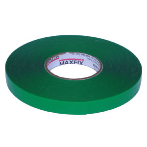 Fita adesiva dupla face de massa acrílica transparente, liner verde, espessura 1,0mm, 20 a 60 metros de compri...