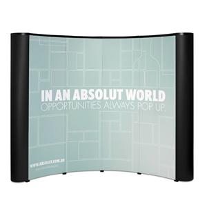 Painel da linha Pop-up mini. Medida: 270x190 cm. Material: Alumínio e plástico ABS. Evidencie a sua marca de m...