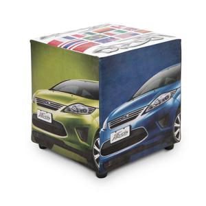 Pufes personalizados. Material: Korotan. Medida: 40 x 45 x 40 cm. Conforto garantido para os seus clientes!